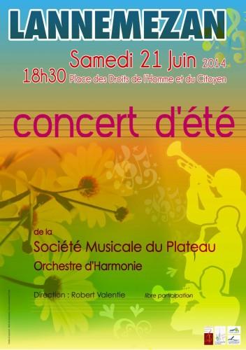 Affiche concert été 2014