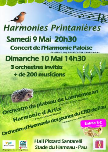 Affiche Harmonies Printanières 2015