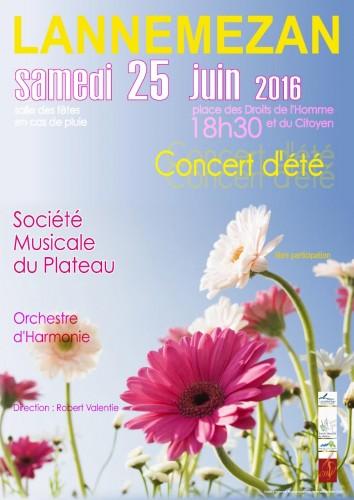 Affiche concert d'été 2016